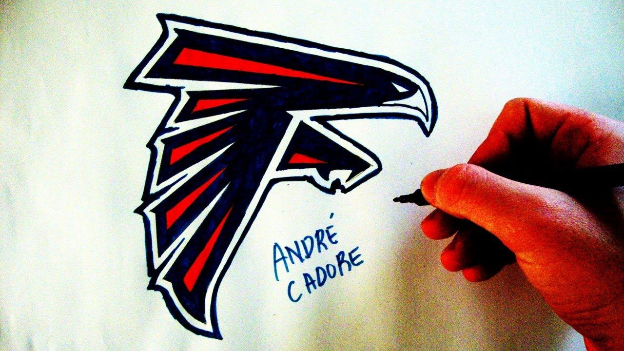 Como Desenhar A Logo Do Atlanta Falcons How To Draw Atlanta