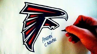 Como Desenhar a logo do Atlanta Falcons - (How to Draw Atlanta Falcons logo) - NFL LOGOS #10