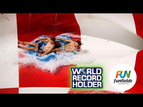Typhoon, World's Longest CannonBowl Waterslide - Funfields Theme Park