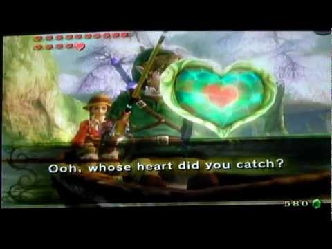 Twilight Princess How To Get Heart Piece In Castle Town And Henna's Fishing Hole