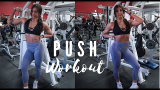 PUSH WORKOUT | 14 weeks out physique update