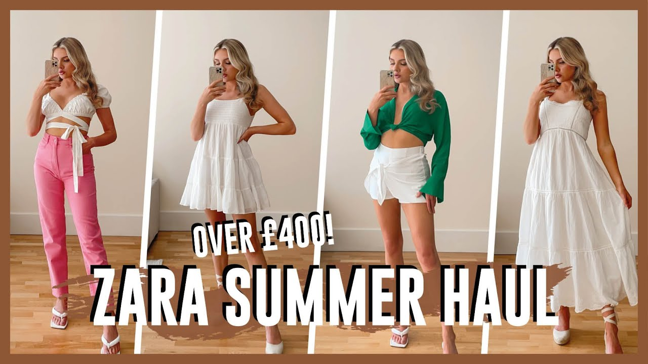 NEW IN ZARA TRY ON HAUL   SUMMER COLOURS!
