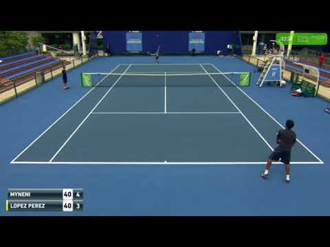 Saketh Myneni vs Enrique Lopez Perez ATP Challenger Zhuhai 1st Round Highlights