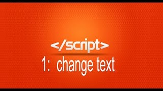 Learn JavaScript 1: change text