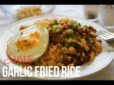 Sausage Garlic Fried Rice In 20 Minutes