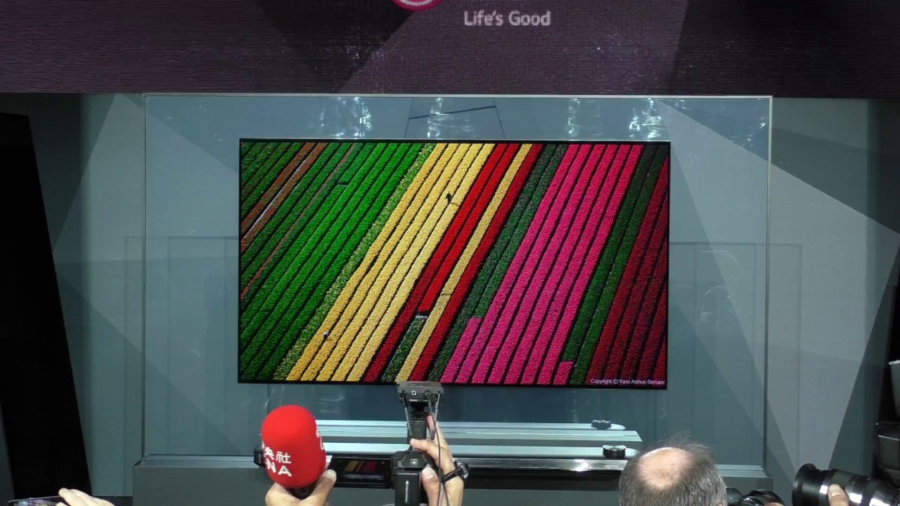 W7 Wallpaper OLED TV by LG at CES 2017 - YouTube