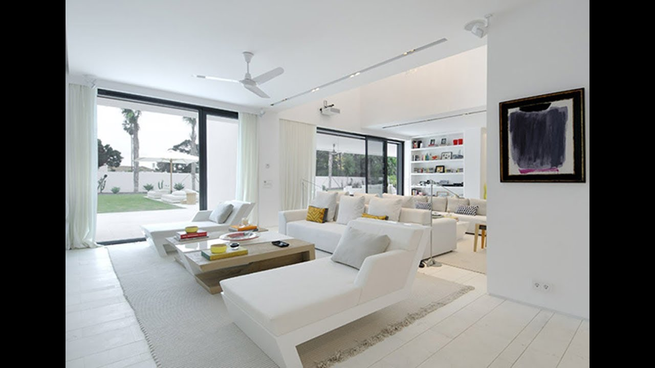 White living room decorating ideas youtube - Casas de lujo interiores ...
