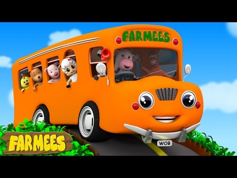 Wheels On The Bus Go Round And Round | Nursery Rhymes | Baby Rhymes | Kids Songs by Farmees