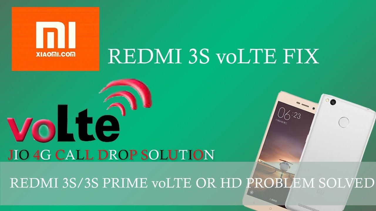 REDMI 3S/3S PRIME voLTE PROBLEM FIXED (HINDI) TUTORIAL