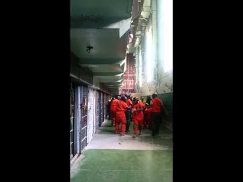 Moundsville WV Mock Prison Brawl