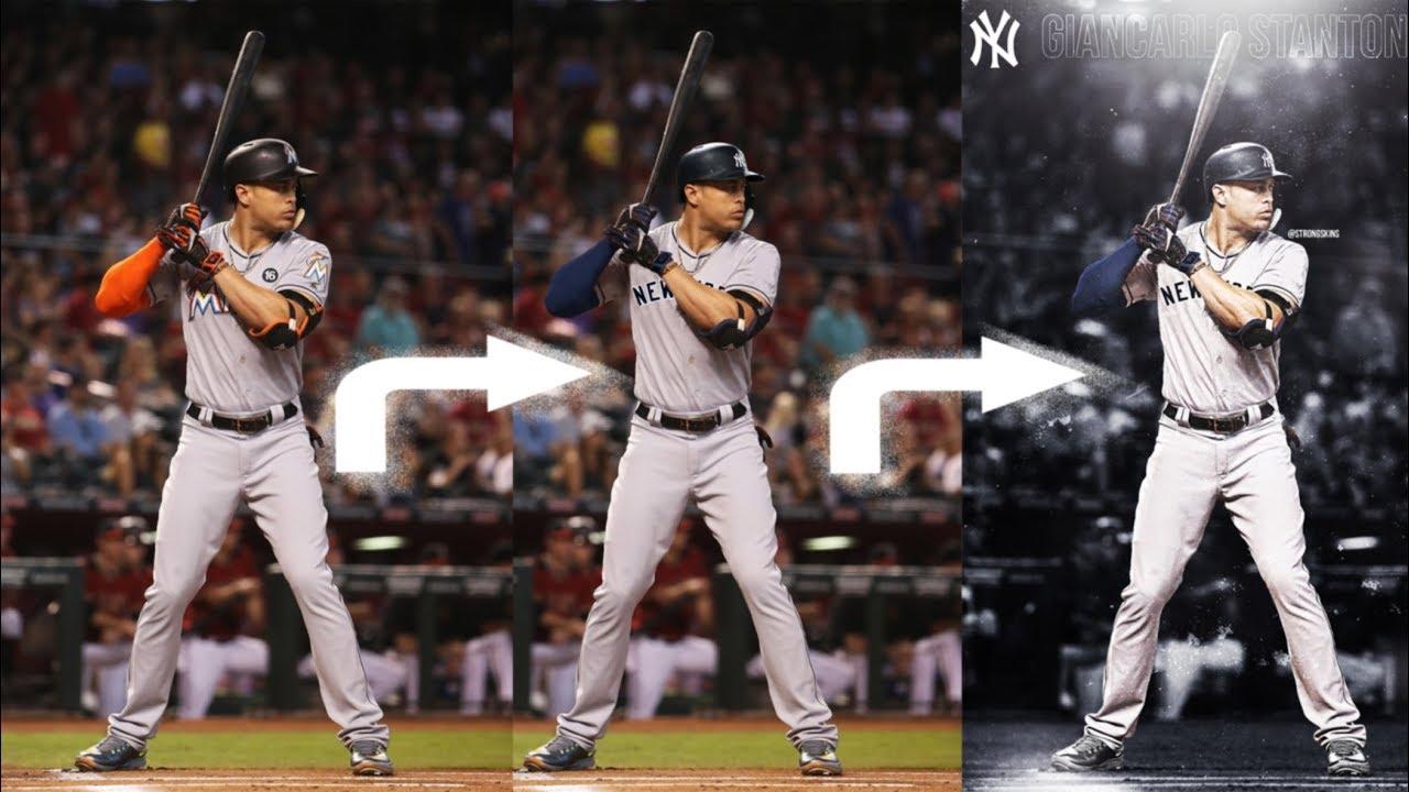 timeless design 87e64 04c10 Giancarlo Stanton JERSEY SWAP to the Yankees!!! (SPEEDART TUTORIAL) [TOOK  ME OVER AN HOUR]
