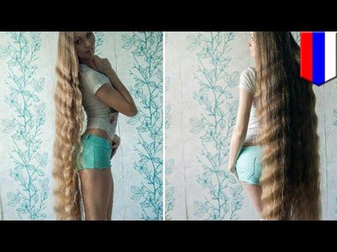 Rapunzel Rusia telah menumbuhkan rambut selama 13 tahun - Tomonews