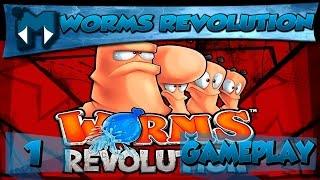 WORMS REVOLUTION COOP #1 - MINHOCAS TRETEIRAS!  / Gameplay 1080p  PT-BR