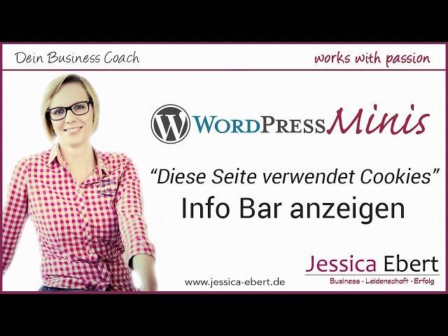 WP Minis #10 - Cookie Nutzung - Info Bar auf der Website anzeigen