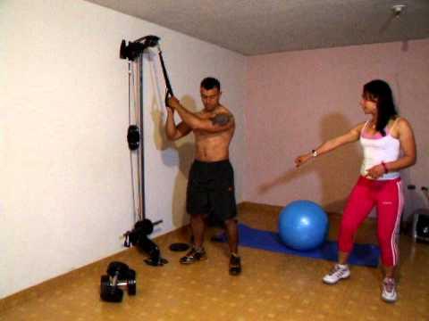 xs home gym gimnasio casero abdominales giro lateral