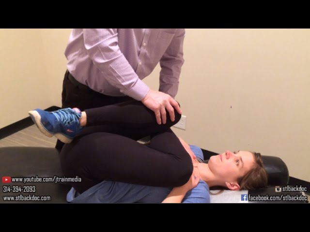 Chiropractic Adjustment on a Patient with Low Back Pain and Tight IT Bands