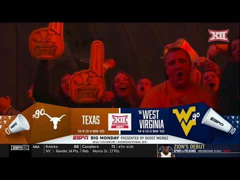 Texas at West Virginia Men's Basketball Highlights