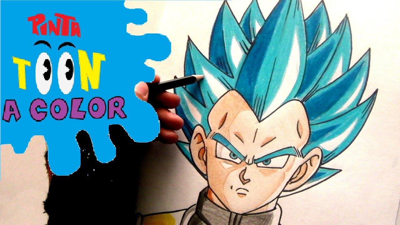 Como Dibujar A Vegeta SSJ Dios Azul PARTE 2-COMO