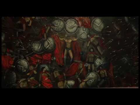 King Leonidas and a force, 300 MOVIE time lapse painting ...