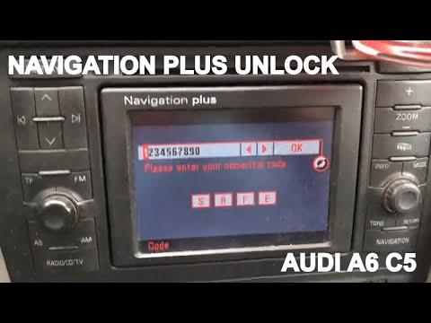 AUDI NAVIGATION PLUS Code Unlock ввод кода магнитола Ауди А6