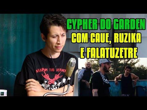 REACT CYPHER ON GARDEN - Ruzika, FalatuZetrê e Cauê Moura (CLIPE OFICIAL)