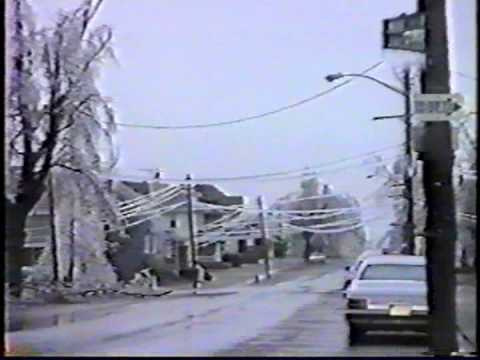 Frankfort Clinton County Indiana March 1991 Ice Storm