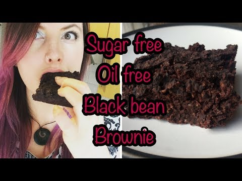 Sugar Free, Oil Free, Vegan Black Bean Brownies!