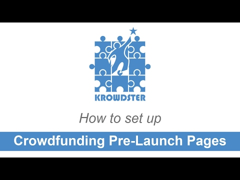 Crowdfunding Pre-Launch Pages for Kickstarter and Indiegogo campaigns