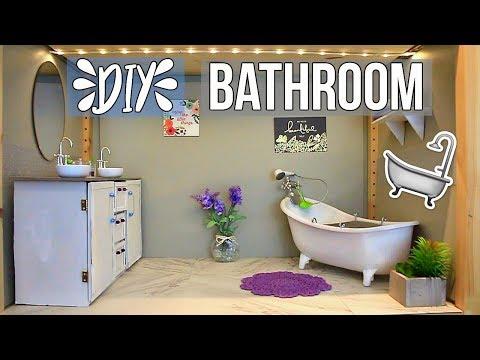 HOW TO MAKE A DOLL BATHROOM! | DIY American Girl Doll Bathroom & How To Make A Doll Sink! | Ep. 4