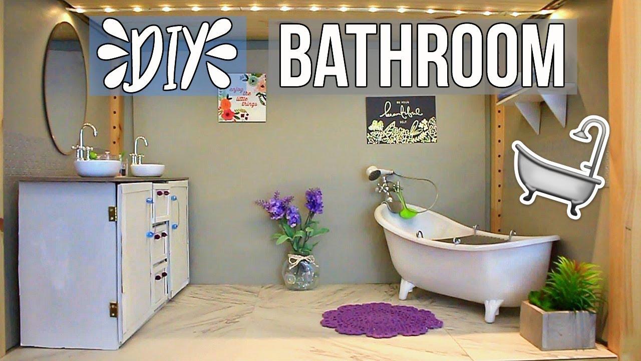 How To Make A Doll Bathroom Diy American Girl Doll Bathroom How