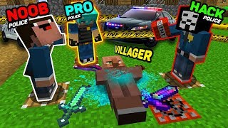 Minecraft NOOB vs PRO vs HACKER  : MURDER INVESTIGATION OF THE VILLAGER ! IN MINECRAFT