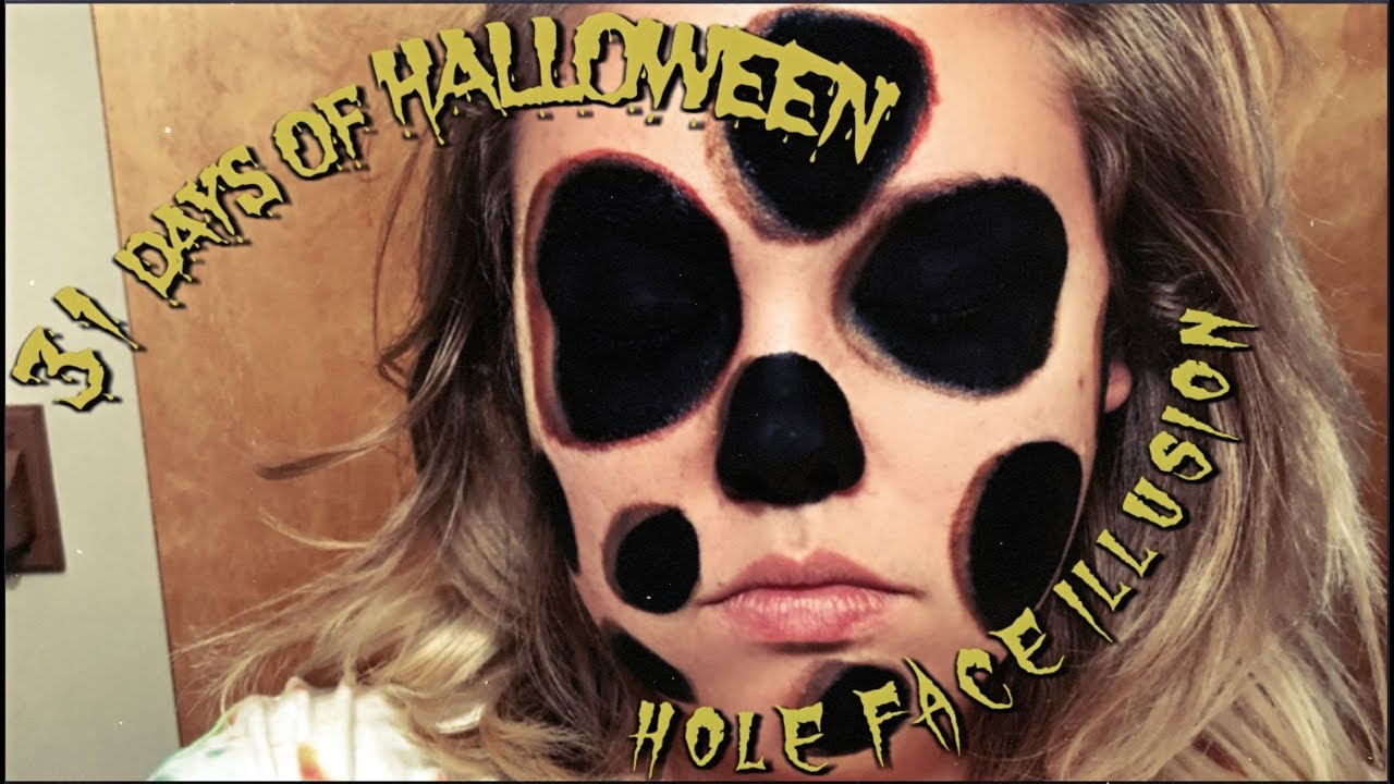 how to hole face illusion makeup 31 days of halloween day 29