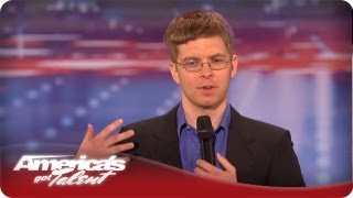 Nerdy Comedian Makes the Judges Laugh - America's Got Talent Season 7 - Jacob Williams Audition