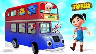 Wheels On The Bus | Kindergarten Nursery Rhymes For Kids | Cartoons by Farmees