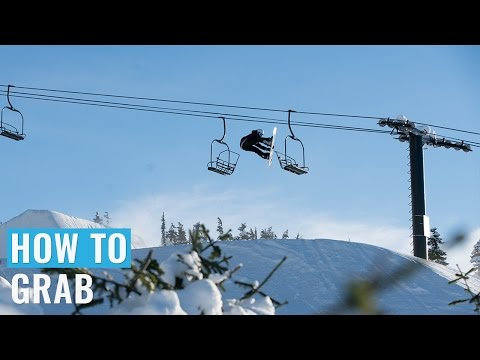 How To Indy, Melon, Mute & Stalefish Grab On A Snowboard (Regular)