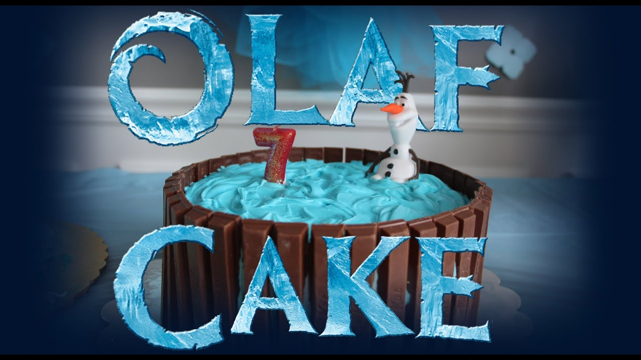 How To Make An Olaf Cake For A Frozen Themed Birthday
