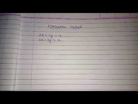 Elimination method ll solving pair of linear equations ll cbse class 10