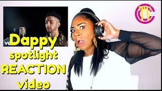 Dappy - spotlight (acoustic) i reaction video i reacting i dappy rap 2017 uk freestyle