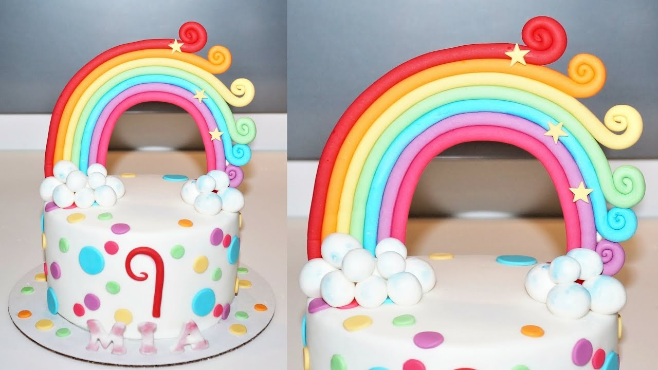 Cake decorating tutorials | how to make a rainbow cake ...