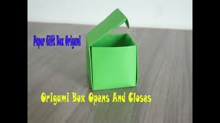 Origami Box Opens And Closes | Cách Gấp Hộp Có Nắp | Paper Gift Box Origami