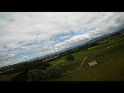 Skyzone Theer test flight Very windy Land in poop!