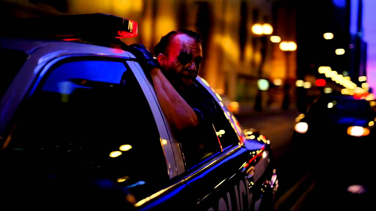 Dark Knight Joker Driving Police Car Scene Youtube