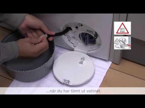 Hur åtgärdar jag en blockerad pump i tvättmaskinen?