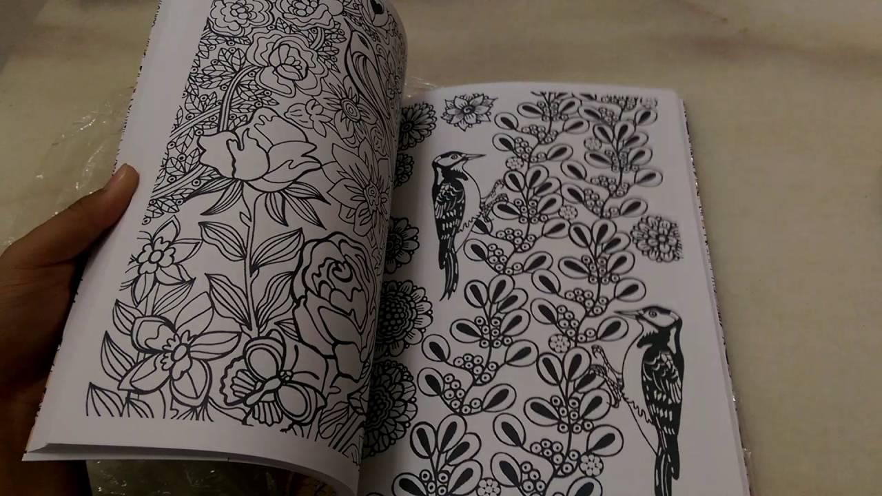 Quick Flip Through Adult Coloring Book Glorious Garden From Michael OMara Books