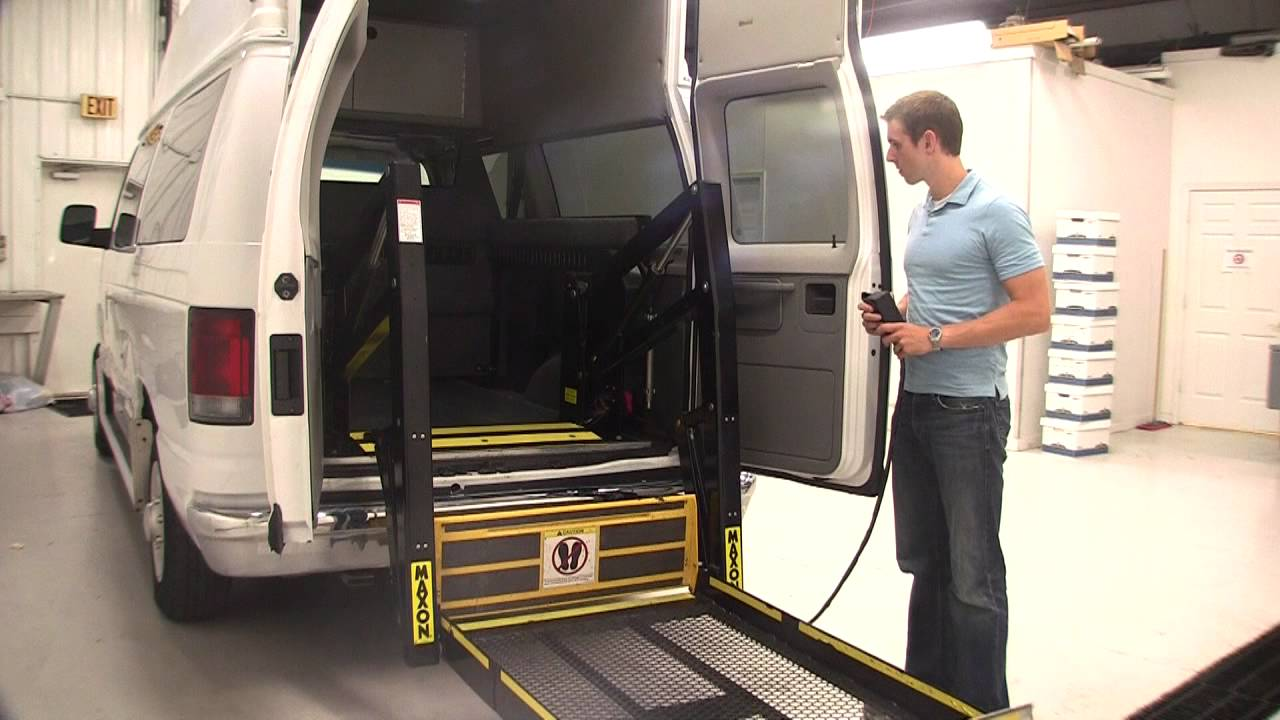 Wheelchair Lift For Van To Ford E350 Hightop Wheelchair Lift Van Youtube