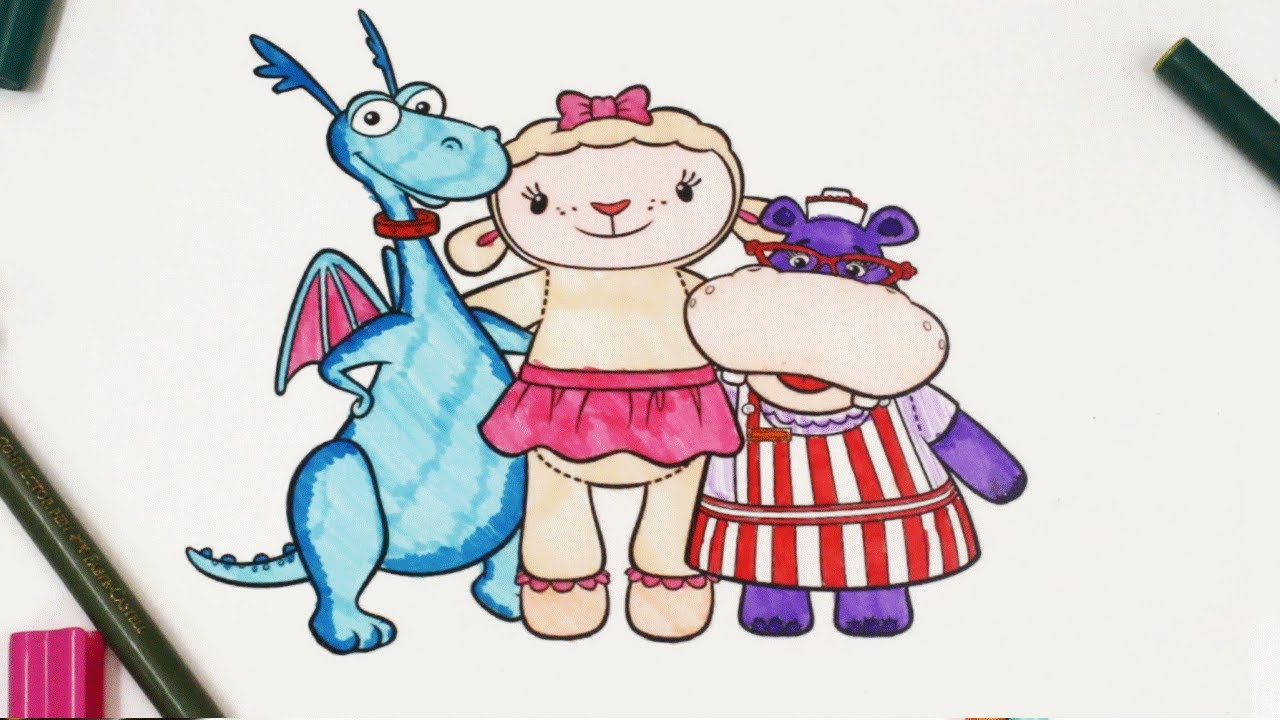 colouring McStuffins, Stuffy, Lambie, Hallie Colouring ...