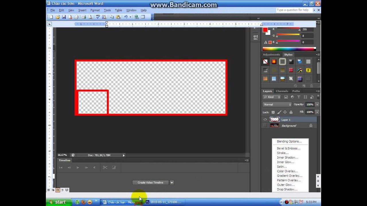 [TUT] Hướng Dẫn cách tạo khung ảnh bìa Facebook bằng Photoshop