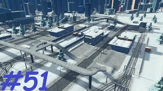 Cities Skyline PS4 PL Snowfall - #51 Dworzec kolejowy i węzeł drogowy