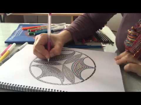 Muestra de Mandalas de Mosaicos ~ Arte para colorear - YouTube