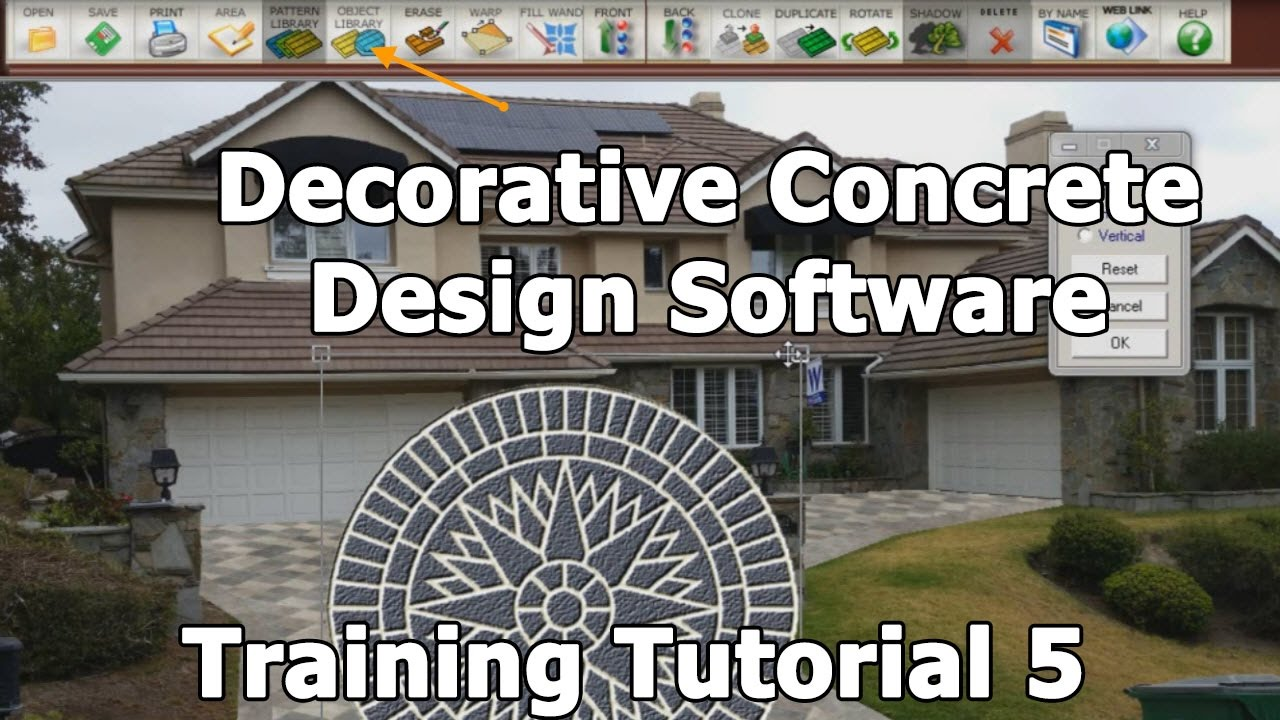 decorative concrete design training tutorial 5 adding decorative